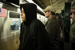 """Rami Malek, left, and Christian Slater, right in a scene from """"Mr. Robot."""""""