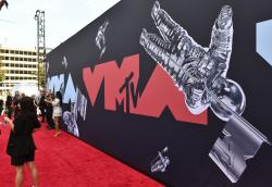A view of the red carpet at the MTV Video Music Awards in Newark, N.J.