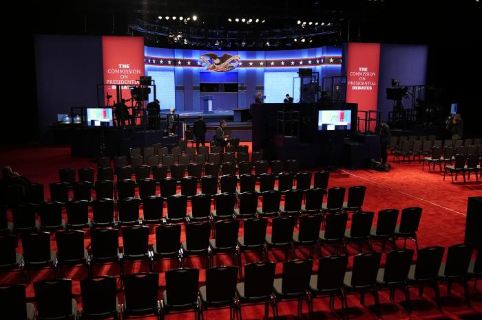 Preparations take place for the second Presidential debate between President Donald Trump and Democratic presidential candidate, former Vice President Joe Biden at Belmont University.