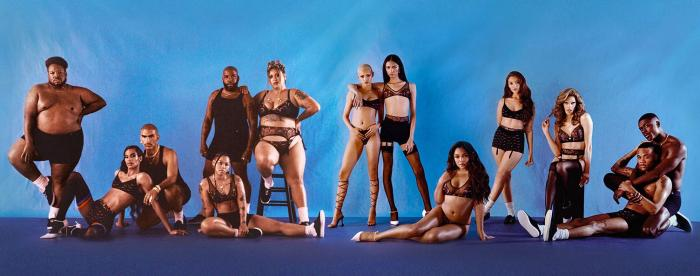 A promotional photo for the Savage x Fenty Pride line