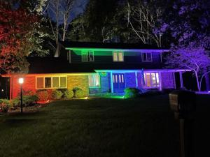 Gay Couple Turns Home Into a Pride Flag